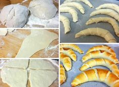 ha nincs időm kenyér sütéshez, akkor jön ez a recept. Pastry Recipes, Bread Recipes, Cookie Recipes, Hungarian Recipes, Russian Recipes, Savory Pastry, Sweets Cake, Bread And Pastries, Bread Rolls