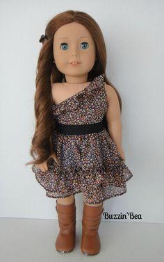 Floral Chiffon Dress - American Girl Doll Clothes