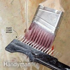 Rake out dried paint, dirt and other debris from your brushes.