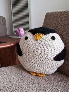 almofada de crochê inspiração
