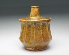 20631 河井寛次郎[つね識](黄釉瓶子)KAWAI Kanjiro - 近代美術工芸のアート飛田