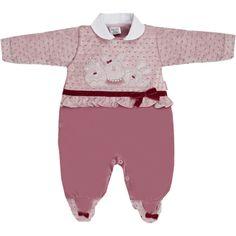 Macacão para Bebê Menina em Plush Lilás - Sonho Mágico :: 764 Kids   Roupa bebê e infantil