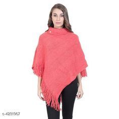 Checkout this latest Capes, Shrugs & Ponchos Product Name: *Attractive Women Poncho* Fabric: Wool Sleeve Length: Three-Quarter Sleeves Fit/ Shape: Winter Poncho Pattern: Solid Multipack: 1 Sizes: S, M (Bust Size: 38 in, Length Size: 30 in)  Country of Origin: India Easy Returns Available In Case Of Any Issue   Catalog Rating: ★3.9 (238)  Catalog Name: Attractive Women Poncho CatalogID_605208 C79-SC1024 Code: 164-4231967-7911