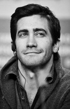 Jake Gyllenhaal looking smart.