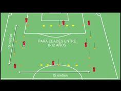 ejercicio de técnica de pase: paredes y coordinación para fútbol base - YouTube