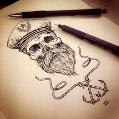 american traditional bearded sailor tattoos - Google Search