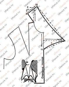 Neckline pattern Цельнокроенный воротник и чертеж его выкройки