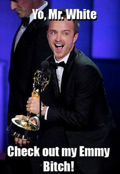 Aaron Paul, Breaking Bad baddie that deserved that Emmy!