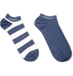 Hugo Boss - Two-Pack Cotton-Blend Socks