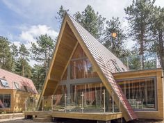 Woodpecker A Beautiful Scandinavian A-frame Norfolk Holiday Lodge in Tranquil Woodland Setting of Weybourne Forest Close to Sheringham Cromer and Holt.