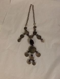 Moroccan Coins Necklace Vintage Silver Tone Beads Many Sizes #Unbranded
