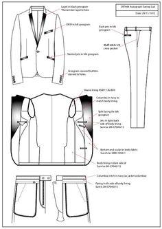 CAD samples and Tech Pack examples by Samantha Roberts at Coroflot.com
