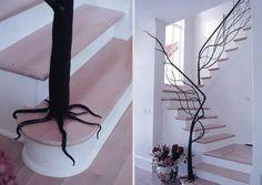 9 - Escada Criativa Tree Stairs por Faba Architetture del Ferro