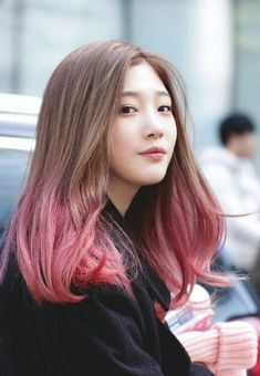 Best hair pink balayage haircolor ideas Recommended For You Pink Hair Dye, Hair Color Pink, Dye My Hair, Dip Dye Hair Brunette, Hair Colours, Lip Colors, Hair Goals Color, Kpop Hair Color, Korean Hair Color Ombre