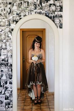 Unique same sex wedding in the German countryside with 'First Non-Look photos', the brides who made all the decorations including their own outfits and steampunk cake! Vintage Diy, Steampunk, Germany, Weddings, Bride, Formal Dresses, Unique, Photography, Outfits