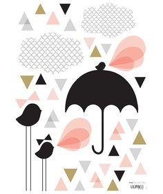 Paraplu - Muursticker