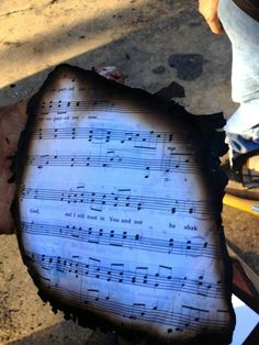 I will trust in You and not be shaken. Found in the debris of a fire at Trinity Pres. Church.