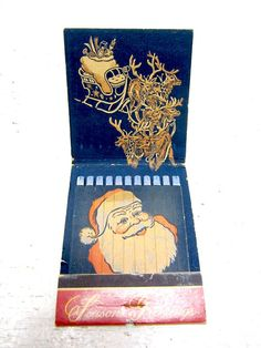 Vintage Christmas Santa Clause Matchbook on Etsy, $4.50