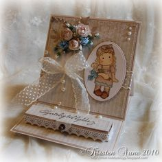 """Kirstens Blogg: DT Unik Hobby - Easel Card with a small """"money-box"""""""