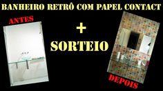 Adesivo de parede para banheiro com papel contact + SORTEIO