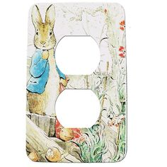 Items similar to Peter Rabbit Nursery Electrical Outlet  Cover --Metal on Etsy