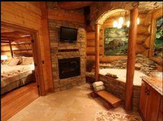 Log cabins 497929302554523297 - Log Cabin Bedroom Ideas – Interior Design Ideas & Home Decorating Inspiration – moercar Source by Log Cabin Bathrooms, Log Home Living, Living Room, Sweet Home, Log Home Decorating, Decorating Ideas, Interior Decorating, Log Cabin Homes, Log Cabins