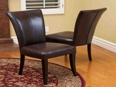 Noble House Becker Brown Leather Dining Chairs (Set of French Dining Chairs, Leather Dining Room Chairs, Dining Room Bench, Dining Chair Set, Dining Rooms, Leather Chairs, Dining Table, Dining Sets, Kitchen Chairs