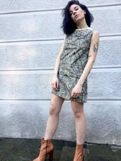 """Screen printing LOLA DARLING Mini Dress Art Work Clothing """"Pantograffiti"""" A. LUGLI Unique Weareable Painting Dress One of a Kind Embroidery di loladarlingirl su Etsy #wearables #clothing #luxury #exclusive #artwork #dress #loladarling"""