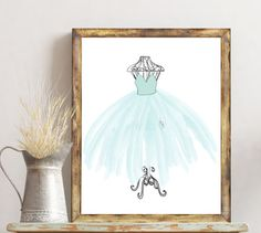 blue tutu ballerina ballet french printable by digitalsociety