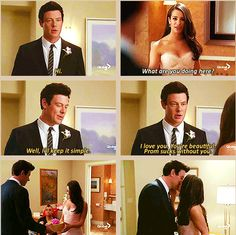 """""""Well I'll keep it simple. I love you. You're beautiful."""" aww <3 Finn and…"""