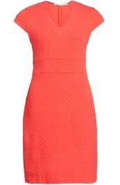 Getailleerde jurk koraal | La Fée Maraboutée