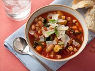 Minestrone Soup with Pasta, Beans and Vegetables Recipe : Robin Miller : Food Network