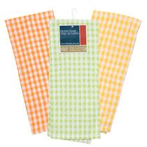 dollar tree! i bought the orange/yellow/green plates and bowls that were in the same display today... going to pick up these towels next time!