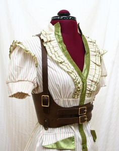 Lucille Brown Leather Underbust Harness Belt by AudraJean on Etsy, $135.00