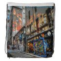 Enjoy a new drawstring bag from Zazzle. Use it to hold your gym gear or carry snacks & water for a hike. Black Rope, Back To Black, Melbourne Shopping, Shopping Street, Everywhere You Go, Black Trim, Drawstring Backpack, Street Art, Backpacks