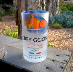 Grey Goose vodka recycled glass tumbler.