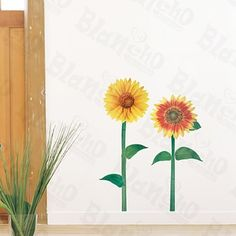 [Art Floral Picture] Decorative Wall Stickers Appliques Decals Wall Decor Home Decor by Hemu Wall Sticker. $4.89. Easy to install. Just peel slightly and stick on the smooth wall, which won't harm the Wall.. Decorate baby and kids nursery, interior walls or windows of home, bathroom, office, dorm, or store.. Size: (W)13 inches x (H)23.5 inches; Color: Mixed (You could see the color in the images).. Simple & easy to make the wall a masterpiece with Blancho Bedding wall sticker...
