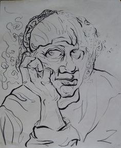 Pencil on paper-50*70 cm-  By Elahe Riyazat