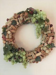 16 Handmade Wine Cork Wreath Wine and Faux by AshpasBlossomShoppe