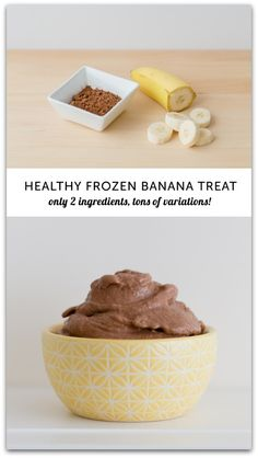 2 ingredient healthy frozen banana treat