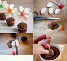 Cantinho das Ideias: Cupcake que vira flor