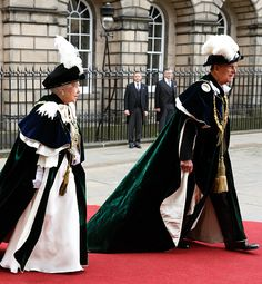 Queen Elizabeth II and Prince Philip, Duke of Edinburgh attend the Thistle Service at St Giles' Cathedral on July 7, 2016 in Edinburgh, Scotland.