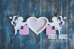 Фоторамка из дерева в форме Сердца | Woody Words