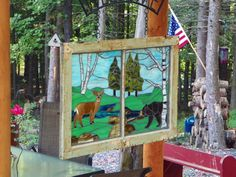Linda shared this great upcycled mosaic woodland creatures window she created using stained glass and NO Days Mosaic Adhesive. Broken China, Woodland Creatures, Pictures Of You, Beautiful Gardens, Stained Glass, Glass Art, Mosaics, Frame, Day