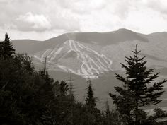 Waterville Valley Ski Area from North Tripyramid Mt, New Hampshire