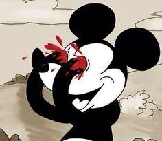 Mickey vintage eyes shut