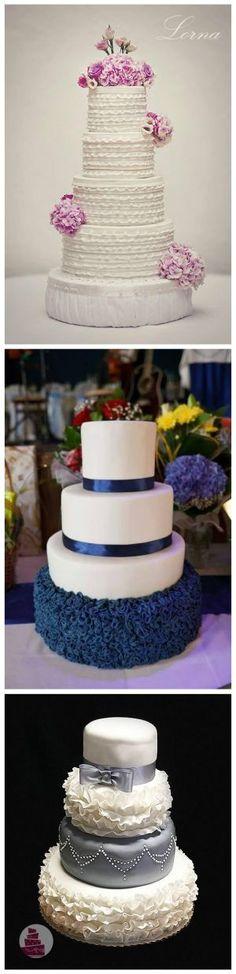 Vznešené, romantické, hravé ....aj také sú torty s volánmi. Rôzne tvarované, rôznofarebné vytvárajú prekvapivé efekty na tortách svadobných ale aj pre deti. Viac fotografií na Tortyodmamy.sk.