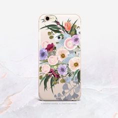 iPhone Case Floral iPhone X Case iPhone 7 Case Floral Clear GRIP Case iPhone 7 Plus Clear Case iPhon Iphone 7 Plus, Iphone 11 Pro Case, Iphone 8 Cases, Samsung Cases, Samsung Galaxy, Broken Nails, Pretty Iphone Cases, Apple Logo, Vintage Prints