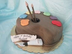 gathering art party cake ideas-going to do this for natalie and holly's birthday!