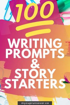 Need a creative idea for your next story? Grab this list of 100 writing prompts and story starters to get your creative juices flowing. Teen Writing Prompts, Journal Prompts For Teens, Picture Writing Prompts, Creative Writing Prompts, Start Writing, Writing Ideas, Dialogue Writing, Kids Writing, Homeschool Curriculum Reviews